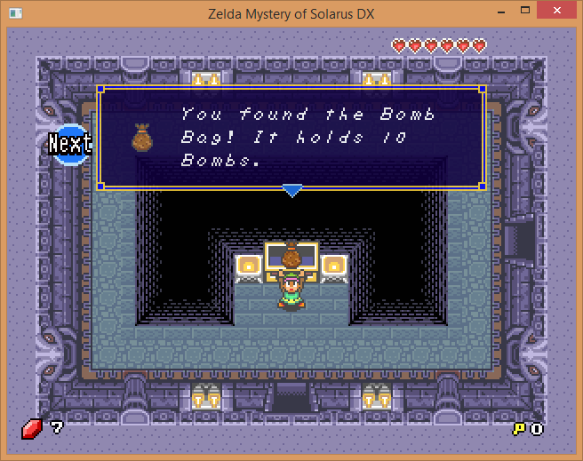 Bombs act as the dungeon item in the ZDG and are used to traverse the dungeon, find secrets and defeat the boss.